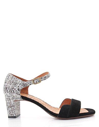 Chie Mihara Black Heeled Sandals by Black