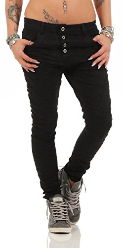 Fashion4Young - Jeans - Jeans - Femme Schwarz2