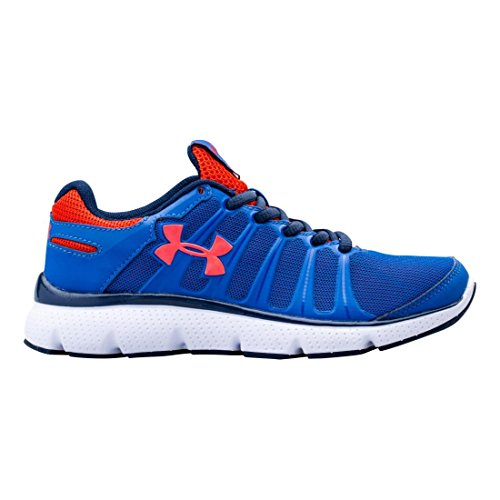 Under Armour Kids Boys PS Pulse II, Scatter/Dark Blue, 11 Little Kid M (Pulse Ii Running Shoes)