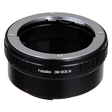 Fotodiox Lens Mount Adapter - Olympus Zuiko (OM) 35mm SLR Lens to Canon EOS  M (EF-M Mount) Mirrorless Camera Body