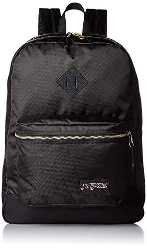 JanSport Super FX Backpack (BLK-Black/Gold)