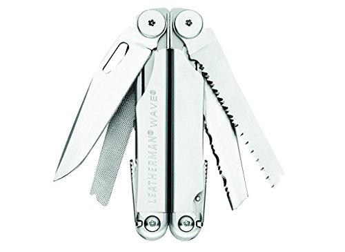 037447710636 - Leatherman 830039 Wave Multitool with Leather/Nylon Combination Sheath, Silver carousel main 5