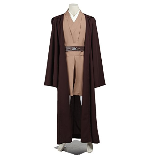 CosplayDiy Men's Cosplay Suit for Star Wars Mace Windu Costume with Robe