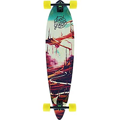 Landyachtz Bamboo Pinner Red Road Complete Skateboard - 9.5 x 44 by Landyachtz