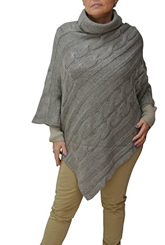 ROULE PONCHO taille M GRIS COL OSYwqTv