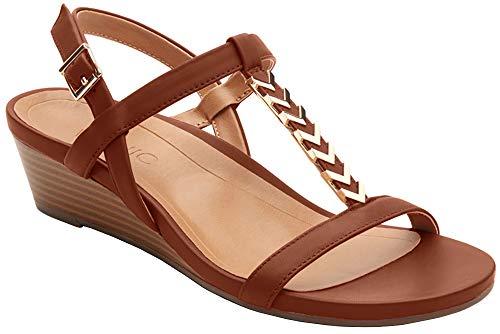 Leather Port Sandals Vionic Cali Womens Rust fvxnqgP