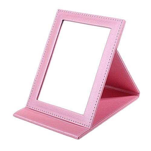 Rnow Tabletop Makeup Mirror Portable Folding Vanity Mirrors with Standing Large, -