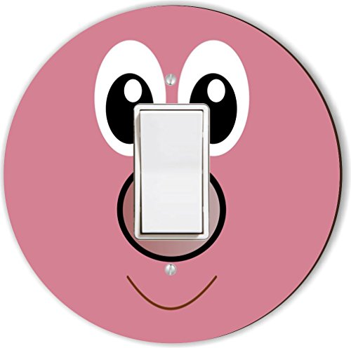 Rikki Knight RND-LSPROCK-132 Cute Cartoon Pig Face Round ...