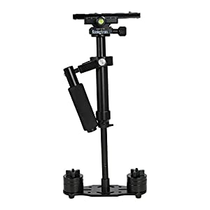 "Koolertron H-60/S60 60cm/23.6in Mini Handheld Stabilizer with Quick Release Plate 1/4"" Screw for DSLR Camera Canon Nikon Sony"