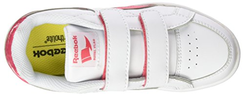 Reebok Royal Prime Alt, Zapatos de Primeros Pasos para Bebés Blanco / Rosa  (White/Fearless Pink)