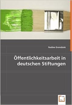 Book Öffentlichkeitsarbeit in deutschen Stiftungen