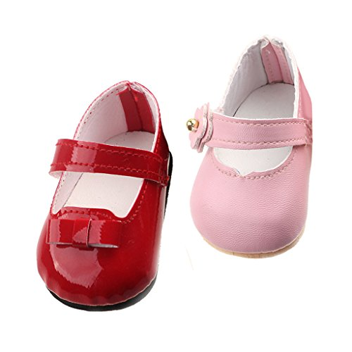 Homyl 2 Pairs Sticky Strap Shoes for 43cm/17'' Zapf Baby Born Dolls Accessories