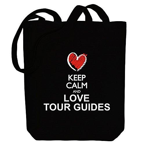 Guides Keep Tote love style calm chalk and Bag Idakoos Tour Canvas X14fwxqXd