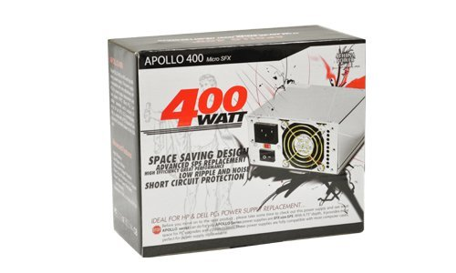 Athena Power APOLLO 400 AP-MP4ATX40 400W watt high efficiency SFX power supply - Retail Box