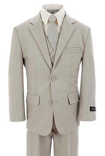 Johnnie Lene Dress Up Boys Designer Suit Set #JL5040 (5, ()
