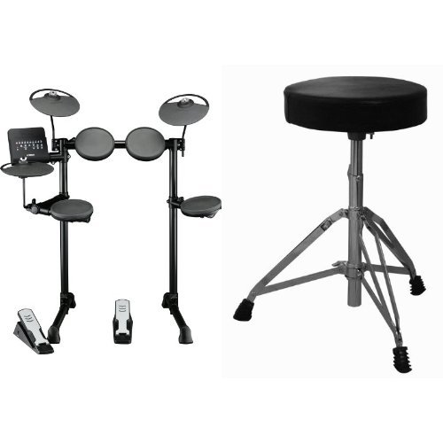 Yamaha Drum Thrones - Yamaha DTX400K Customizable Electronic Drum Kit with Silent Kick Pedal and Drum Throne