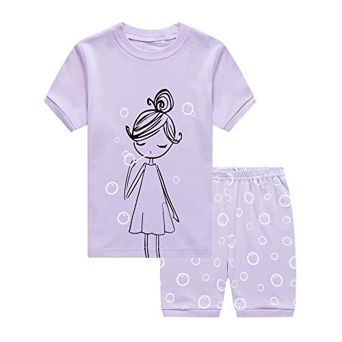 - Kinkie Pretty Girls Kids Sleepwear 100% Cotton Summer Short Toddler Pjs Childrens Pyjamas Sets 2T