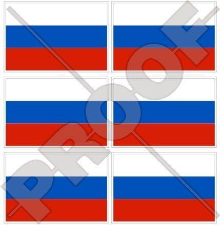 Drapeau l'oblast bryansk bryanskaya Russie 40mm mobile cell phone mini stickers x6