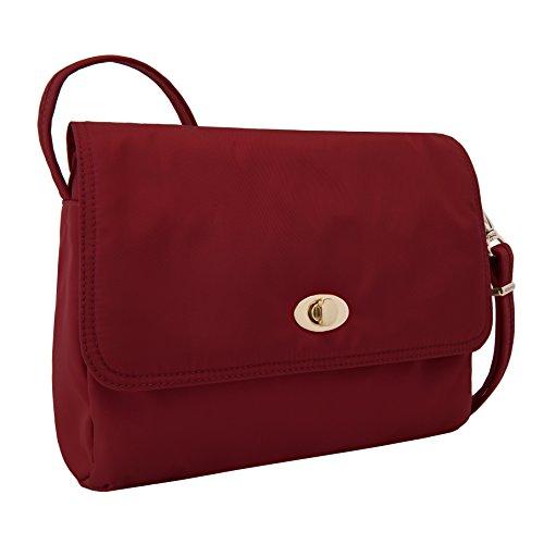 Cross E Body Theft Anti w Travelon Garnet Women's Crossbody Bag Tailored xUSI8SR0wq