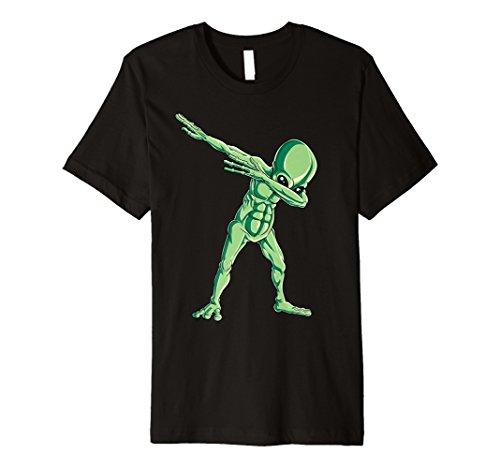 Dabbing Alien T shirt Dab Hip Hop Funny UFO Gift Boys Kids ()