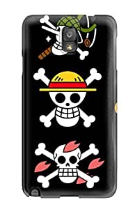 Galaxy Note 3 Hard Back With Bumper Silicone Gel Tpu Case Cover Mugiwara One Piece by icecream design