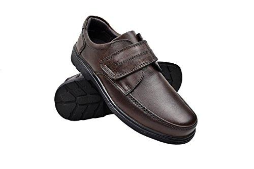 Zerimar Chaussures en cuir pour hommes Chaussures décontractées pour hommes Chaussures Habillées pour Hommes Chaussures de travail Couleur Marron Taille 43
