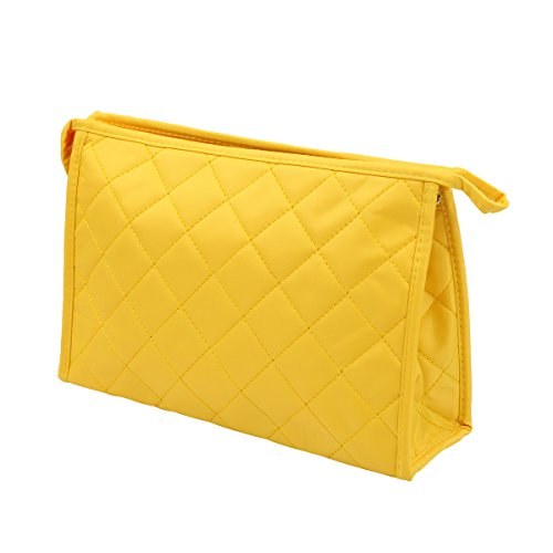 Premium Large Quilted Cosmetic Travel Makeup Bag Pouch Organ