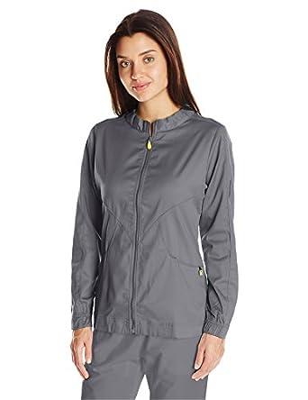 9789a95186a WonderWink Next Boston Warm Up Women's Scrub Jacket, Pewter, Large:  Amazon.in: Amazon.in