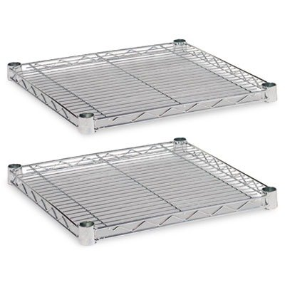 Alera SW581818SR Industrial Wire Shelving Extra Wire Shelves, 18w x 18d, Silver (Case of 2)