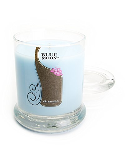 Fresh Floral Scented Round Pillar (Blue Moon Candle - 10 Oz. Highly Scented Blue Jar Candle - Clean Candles Collection)