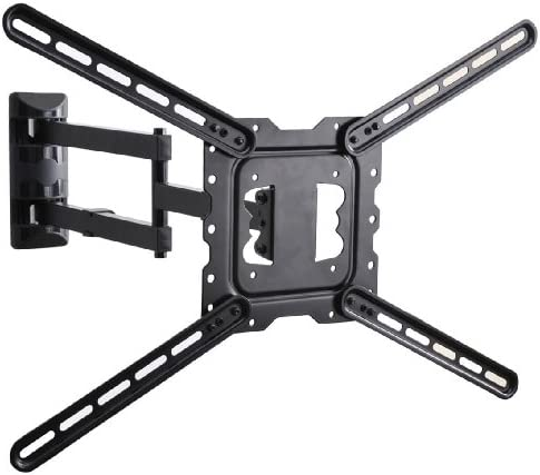 VideoSecu 24 Long Arm TV Wall Mount Low Profile Articulating Full Motion Cantilever Swing Tilt wall bracket for most 22 to 55 LED LCD TV Monitor Flat Screen VESA 200×200 400×400 up to 600x400mm MAH