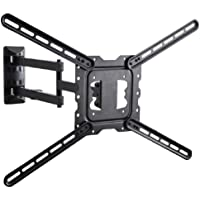 VideoSecu 24 Long Arm TV Wall Mount Low Profile Articulating Full Motion Cantilever Swing Tilt wall bracket for most 22 to 55 LED LCD TV Monitor Flat Screen VESA 200x200 400x400 up to 600x400mm MAH
