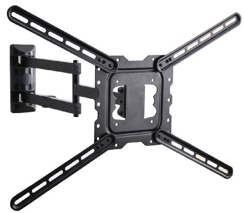 VideoSecu 24″ Long Arm TV Wall Mount Low Profile Articulating Full Motion Cantilever Swing Tilt wall bracket for most 22″ to 55″ LED LCD TV Monitor Flat Screen VESA 200×200 400×400 up to 600x400mm MAH