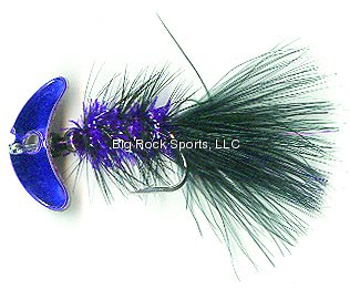 Mack's Lure 60232 Smile Blade Fly Purple Mirror ()