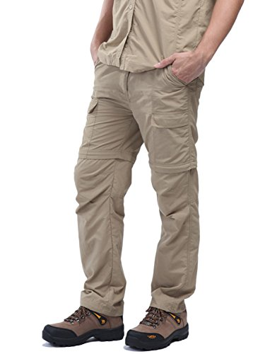 zip off cargo pants men - 4