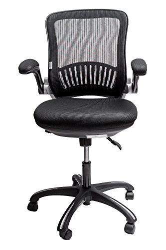 Sleekform Memory Foam Black Executive Office Chair – Ergonomic With Lumbar Support – Height Adjustable Seat & Arms – Breathable Mesh Back – Adjustable Tilt – Ultimate in Comfort & Function