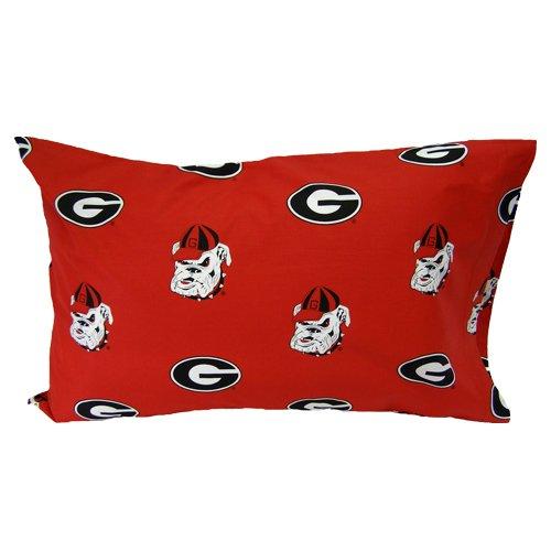 Georgia Bulldogs Red Standard Pillow Case