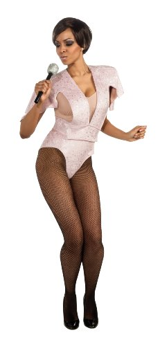 Secret Wishes Womens Rihanna Bodysuit Costume, Pink, Medium