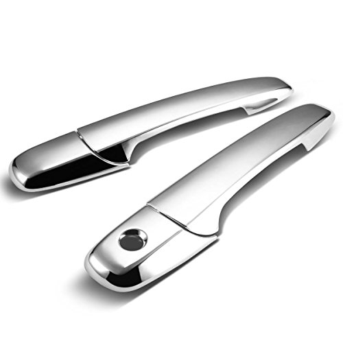 Ford Mustang Front Door Handle - For Ford Mustang 2pcs Exterior Door Handle Cover without Passenger Keyhole (Chrome)