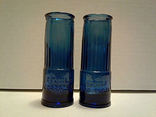 Set of 2 Corralejo Tequila Guanajuato Mexico Cobalt for sale  Delivered anywhere in USA
