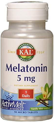 Kal 5 Mg Melatonin Tablets, Vanilla Mint, 90 Count