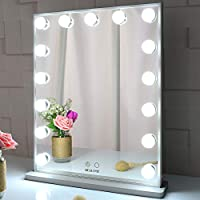 BEAUTME Hollywood Makeup Vanity Mirror with Lights,Bedroom Lighted Standing Tabletop Mirror,LED Cosmetic Beauty Tabletop...