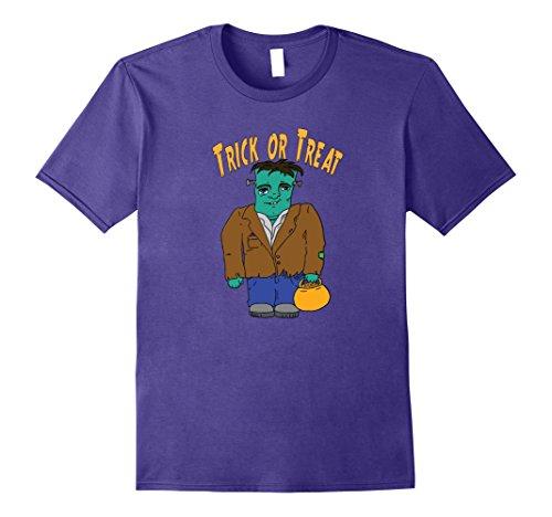 Frankenstein Costume Hands (Mens Trick or Treat Frankenstein T-shirt XL Purple)