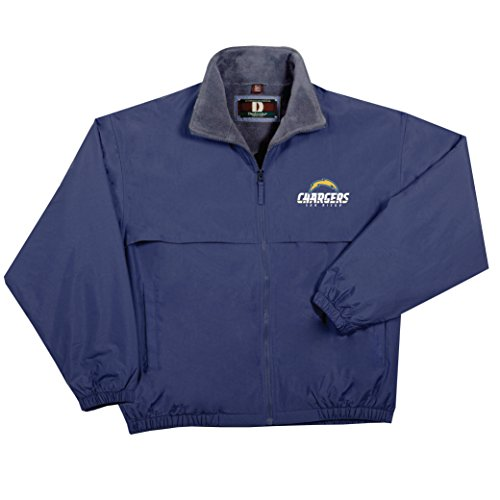 NFL San Diego Chargers  Triumph Fleece Lined Mid Weight Jacket, Small, Navy