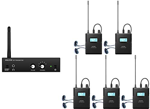 - Anleon S2 Wireless Stereo in Ear Monitor System for Recording Studio Stage Audio Monitoring 561-568Mhz (1 Transmitter 5 receivers)