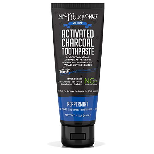 (My Magic Mud - Activated Charcoal Toothpaste, Natural, Whitening, Detoxifying, Peppermint, 4 oz.)