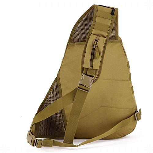 de camuflaje de bolsa bolsa al impermeable Kai 4 de al Hung bolsa capacidad deportes mensajero libre colores libre opcionales bandolera multifunción Marrón gran diagonal de aire de aire casual B8Ax4nxtq