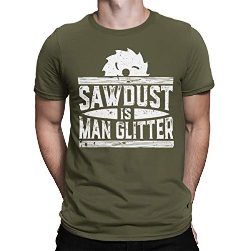 - SpiritForged Apparel Sawdust is Man Glitter Men's T-Shirt, Moss 3XL