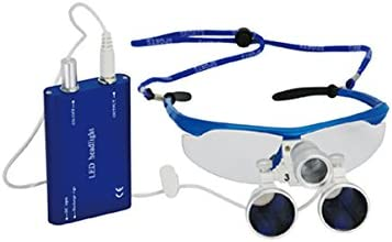 B00OINW90Y Aphrodite New CE High Quality Colorful Surgical Binocular Plastic Frame with Antifog Loupes 3.5X420mm +LED Head Light Lamp (Blue) 41kutTRrKPL