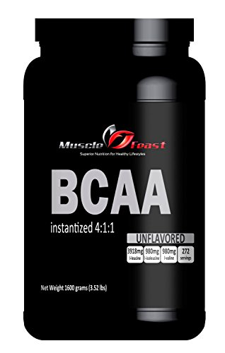 Muscle Feast Instantized Branch Chain Amino Acids (BCAA) Powder (Unflavored, 1600 grams)